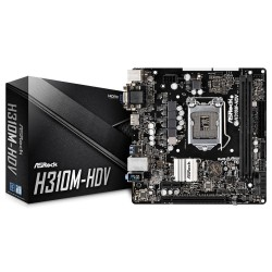Материнская плата H310 ASRock H310M-HDV (Socket1151,v2,mATX,2DDR4,DVI,HDMI,SVGA,PC2666)