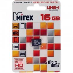 Карта памяти MicroSDHC 16Gb Mirex Class10 UHS-I [13612-MCSUHS16] (без адаптера)