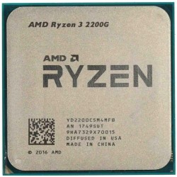 Процессор AMD Ryzen 3 2200G (4ядра/4потоков*3,7GHz,6Mb,Vega8, 65Вт,Sock AM4,oem)