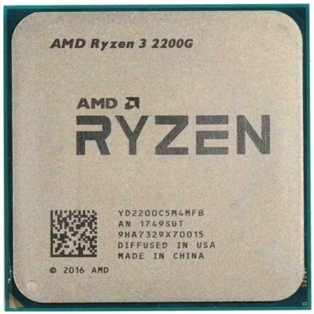 Процессор AMD Ryzen 3 2200G (4ядра/4потоков*3,7GHz,4Mb,Vega8, 65Вт,Sock AM4,oem)