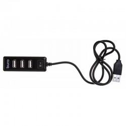 USB Хаб 4xUSB 2.0 Buro BU-HUB4-0.5L-U2.0 черный