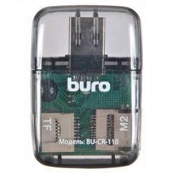 Картридер внешний Buro BU-CR-110 черный USB2.0 SD/microSD/MS/MMC