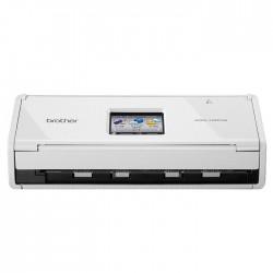 Документ-сканер Brother ADS-1600W, A4, 18 стр/мин, 256 МБ, 600 dpi, цветной, дуплекс, сенсорный экран, WiFi, DADF20, USB