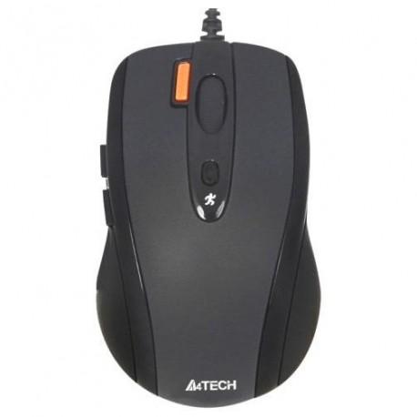 Мышь USB A4Tech N-70FX оптическая V-Track, 1600dpi, 7кн., кабель 0.6м, Black