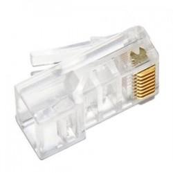 Коннектор - RJ-45 5E уп 100шт NIKOMAX NMC-RJ88RZ06UD1-100, покрытие 6мкд,универсальные ножи