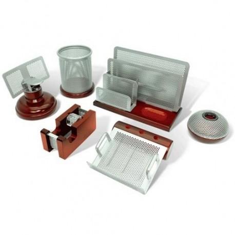 """Набор настольный GALANT """"Wood&Metal"""" 6 предметов, красное дерево,никелированный металл (230876)"""