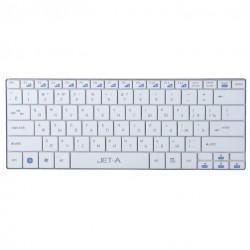 Клавиатура беспроводная Jet.A SlimLine K7 W  ножничная, низкопрофильная, 82 клавиши, White