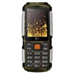 "Сотовый телефон BQ BQ-2430 Tank Power CamouflageSilver (2sim/2.4""/240*320/32Mb/microSD/0.3Мп/Bt/4000мАч)"