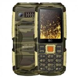 """Сотовый телефон BQ BQ-2430 Tank Power Camouflage+Gold (2sim/2.4""""/240*320/32Mb/microSD/0.3Мп/Bt/4000мАч)"""