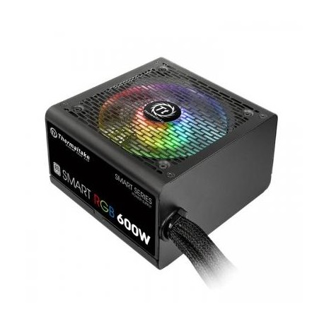 Блок питания 600Вт Thermaltake Smart RGB (APFC,120мм,2PCI-E,6SATA,80+,подсветка)[PS-SPR-0600NHSAWE-1]