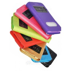 "Чехол-книжка для телефонов 5.4""-5.7"" (размер XXL) ярко-розовый кож.зам."