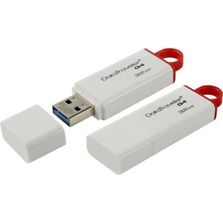 Флешка Kingston бело-красный 32GB (USB3.0,DTIG4/32GB)