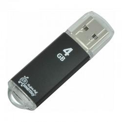 Флешка SmartBuy V-Cut Черный (USB2.0,4GB)