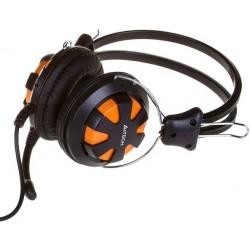 Гарнитура A4Tech HS-28 мониторные, 32Ом, 105дБ, кабель 1.8м, Black/Orange