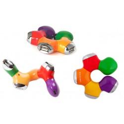 """USB Хаб 4xUSB 2.0 Konoos UK-07 """"Цветок"""""""