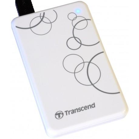 """Внешний жесткий диск Transcend TS1TSJ25A3W белый (USB3.0,2.5"""",1TB)"""