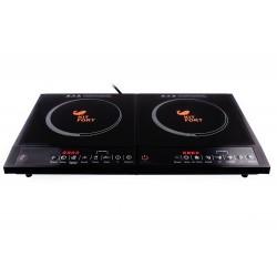 Плита настольная Kitfort КТ-104 Black 2000Вт, конфорок-1, упр. сенсорн., индукция