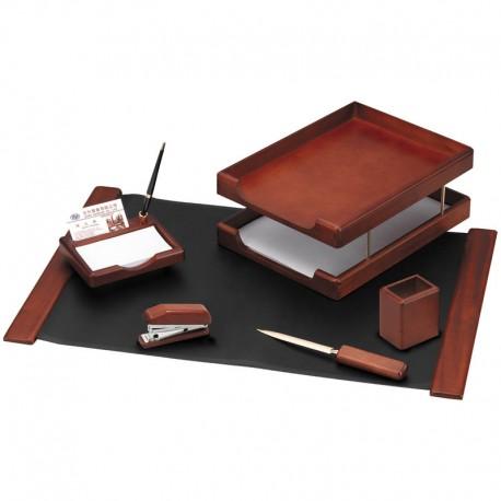 Набор настольный DELUCCI 6 предметов, темно-коричневый орех (MBn_06103)