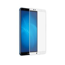 Защитное стекло для Huawei Honor 7C Pro с цветной рамкой (fullscreen) DF hwColor-43 (white)