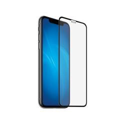 Защитное стекло для iPhone XR/11 3D с цветной рамкой (fullscreen+fullglue) DF iColor-17 (black)