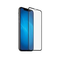 Защитное стекло для iPhone XR с цветной рамкой (fullscreen) DF iColor-19 (black)