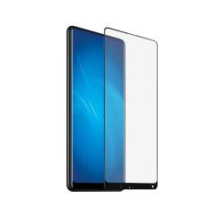 Защитное стекло для Xiaomi Mi Mix 2 с цветной рамкой (fullscreen+fullglue) DF xiColor-20 (black)