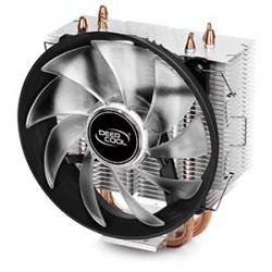 Кулер DeepCool GAMMAXX 300R (125W/21dB/PWM/Red Led/Al+Cu,S1155/1156/1366/775/AMx/FMx)