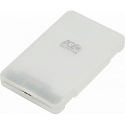 "Внешний бокс для HDD 2.5"" USB 3.1 AgeStar 3UBCP1-6G пластик белый"