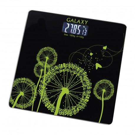 Весы Galaxy GL 4802 Black стекло, точность 0,1кг, макс. 180кг, авто вкл/выкл