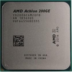 Процессор AMD AM4 Athlon 200GE (2ядра/4потока*3,2ГГц,5Мб,Vega3,35Вт,oem)