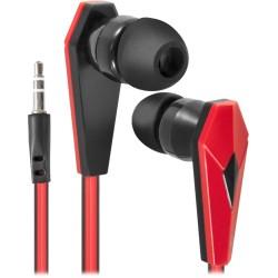 Наушники Defender Trendy-704 вставные, 32Ом, 105дБ, кабель 1.1м, Black/Red