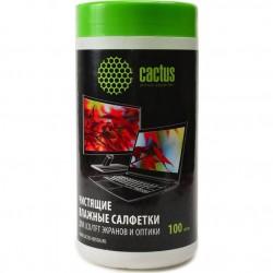 Салфетки чистящие для экранов и оптики Cactus CS-T1001 100шт