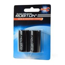 Адаптер (переходник) для батареек и аккумуляторов с AA на C, упак. 2штуки, Robiton Adaptor-AA-C