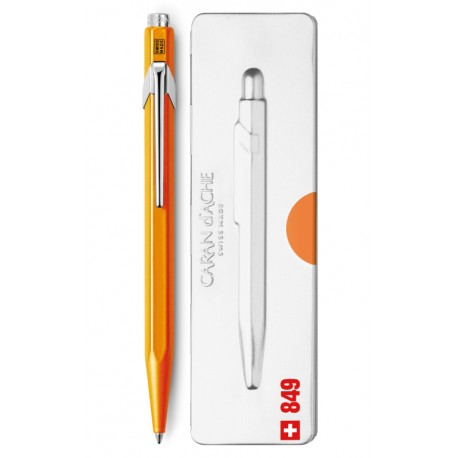 CARANDACHE ручка шариковая Office Popline (849.530) Orange Fluo M