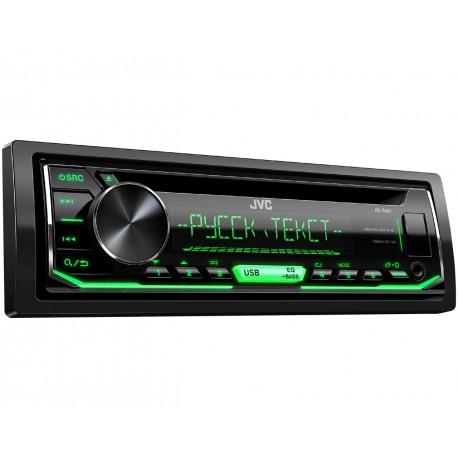Автомагнитола CD JVC KD-R497 1DIN, 4x50Вт, MP3, CD, FM, USB, AUX, съемная панель