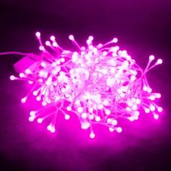 Гирлянда-мишура SPL-320Р, 320шт светод.ламп, 3м, контроллер, темно-розовый