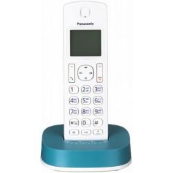 Радиотелефон Panasonic KX-TGC310 RUC,бело-синий 1трубка/АОН/книга 50номеров/спикерфон/16-200ч/Радио-