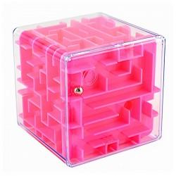 Головоломка 3D лабиринт, розовая