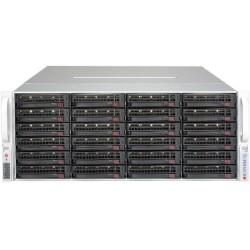 Supermicro SuperStorage 4U Server 6049P-E1CR36L noCPU(2)Scalable/TDP 70-205W/ no DIMM(16)/ 3008RAID HDD(36)LFF/ 2x10Gbe/ 5xFH/ 2x1200W