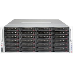 Supermicro SuperStorage 4U Server 6049P-E1CR36H noCPU(2)Scalable/TDP 70-205W/ no DIMM(16)/ 3108RAID HDD(36)LFF/ 2x10Gbe/ 5xFH/ 2x1200W