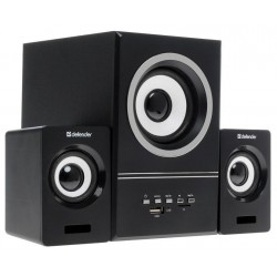 Актив.колонки 2.1 Defender V10 11Вт, FM, MP3, mSD/USB, питание от USB, пластик+MDF, Black