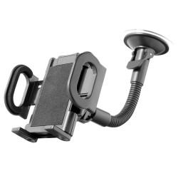 Держатель Ginzzu GH-583 (для устройств 50-115 мм, 3 вида крепления,на гибкой штанге)