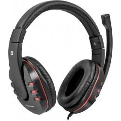 Игровая гарнитура Defender Warhead G-160 мониторные, 32Ом, 106дБ, кабель 2.5м, Black