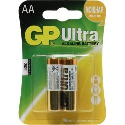 Батарейки AA GP Ultra 2шт уп 15AU-BC2