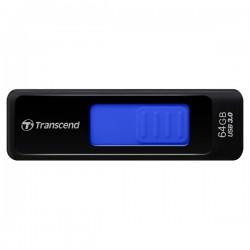 Флешка Transcend 760 Черный,синяя полоса TS64GJF760 64GB (USB3.0)