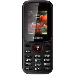 """Сотовый телефон Texet TM-128 BlackRed (2sim/1.77""""/128*160/32Mb/microSD/-/Bt/500мАч/фонарик)"""