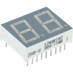 индикатор DA56-11HWA, красный, анод, 1.85в, 1.9мКд, 25*19мм, 8.8.