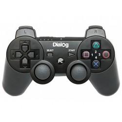 Геймпад Dialog GP-A17 проводной, для PC/PS3, виброотдача, 12 кнопок, 2 стика, кабель 2.2м, Black