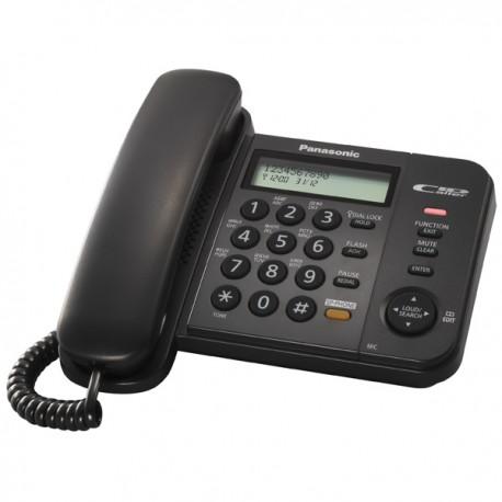 Телефон Panasonic KX-TS2358 RUB (повторн.набор/тон.набор/настен.установка/книга-50н/АОН/спикерфон/отключение микрофона/блокировка набора номера/удержание линии/индикатор вызова)