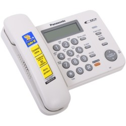 Телефон Panasonic KX-TS2358 RUW (повторн.набор/тон.набор/настен.установка/книга-50н/АОН/спикерфон/отключение микрофона/блокировка набора номера/удержание линии/индикатор вызова)
